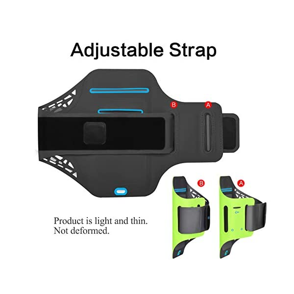 GLEADING Le Réglable Brassard de Sports pour Téléphone Portable Résistant à l'eau6.1 Pouces iPhone 11,11pro, XR,XS…
