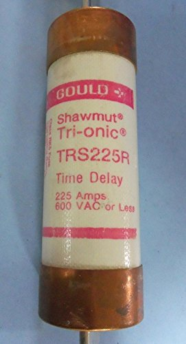 GOULD SHAWMUT 225AMP TRI-ONIC TIME DELAY FUSE TRS225R (Onic Fuse Tri)