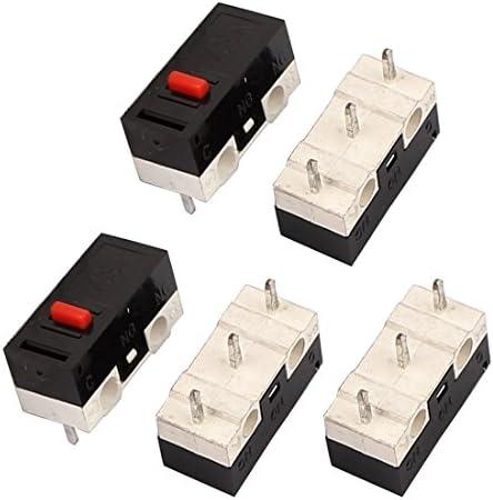 uxcell タクトスイッチ 押しボタンスイッチ ボタンスイッチ 12.6x5.8x6.2mm パネルPCB 5個入