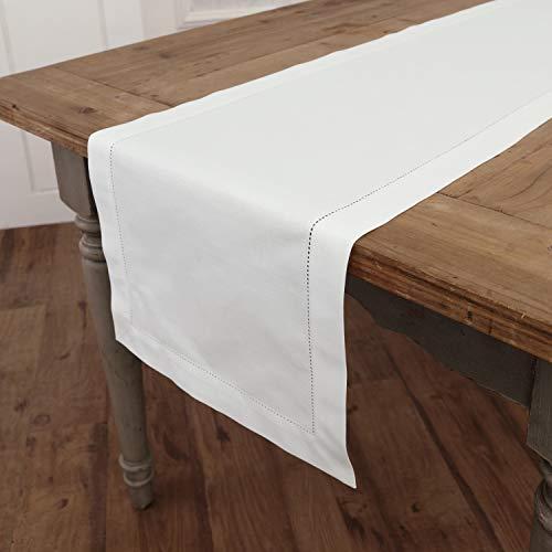 Buy white linen table runner 72