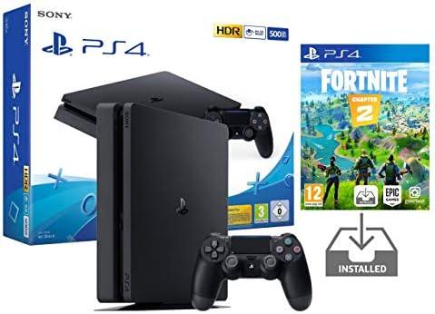 PS4 Slim 500Gb Negra Playstation 4 Consola Pack + Fortnite: Battle ...