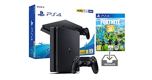PS4 Slim 500Gb Negra Playstation 4 Consola Pack + Fortnite: Battle ...