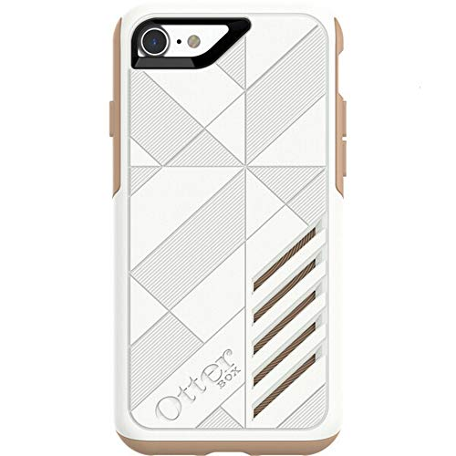 OtterBox Achiever Series Slim Case for iPhone 7 & iPhone 8 (Not Plus) - Retail Packaging - (White-Roasted Tan)