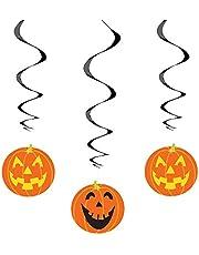 """26"""" Hanging Pumpkin Halloween Decorations, 3ct"""