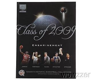 2009 NBA Basketball Hall of Fame Enshrinement Program featuring Michael Jordan