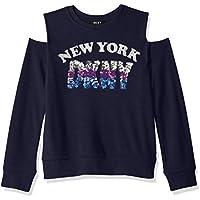 DKNY Women's Big Girls York Cold Shoulder Top
