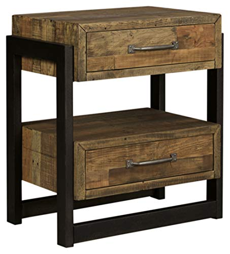 Ashley Furniture Signature Design - Sommerford Nightstand - Brown (Furniture Moines Stores Des)