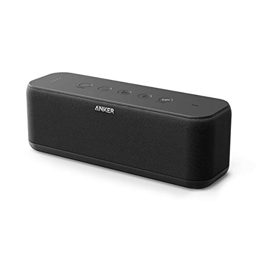 Anker SoundCore Boost 20W Bluetooth Speaker with BassUp Technology - 12h Playtime, IPX5 Water-Resistant, Portable Battery with 66ft Bluetooth Range / Superior Sound & Bass for iPhone, Samsung and more ()