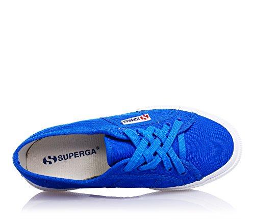 SUPERGA - Zapatilla color azul marino con cordones, en lona, Niño, Niños