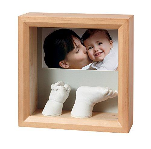 Baby Art 34120183 Bilderrahmen mit 3D-Abdruck, honey