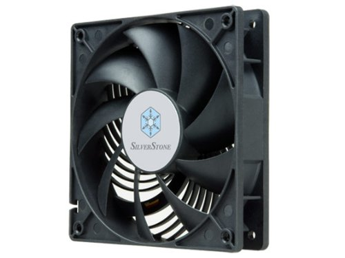 Silverstone Tek Air Penetrator Air Channeling Case Fan with 120x120x25mm/1200rpm and Sleeve Bearing Cooling AP122 (Black)