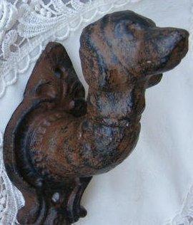 Cast Iron Dog Head Leash Hook (Finial Head)