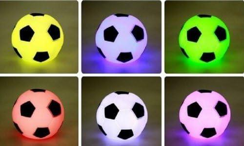 Colorido futbolín, diseño cambiador LED, lámpara de noche, luz de ...