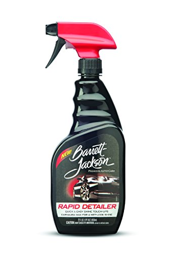 Barrett Jackson Rapid Car Detailing Spray, Contains Carnauba Wax   Spray On And Wipe Off For Easy Car Care And Quick Car Cleaning, 9951, 22 Oz.