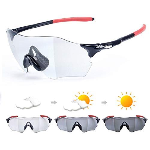 LNLJ Fotochromische zonnebril, gepolariseerde sportbril anti-schittering UV-bescherming