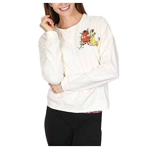 Cheap Disney Women's Juniors Pullover Embroidered Patch Lion King No Worries Sweatshirt for sale