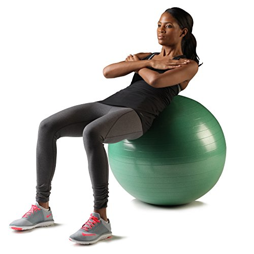 TheraBand Exercise and Stability Ball for Improved Posture, Balance, Core Fitness, Coordination, Yoga, Pilates, Core Stability, Rehab, Pro Series SCP Slow Deflate Burst Resistant