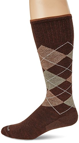 Brown Argyle Socks (Sockwell Men's Argyle Graduated Compression Socks-Ideal for Travel-Sports-Prolonged Sitting and Standing-Reduces Swelling, Espresso, Medium/Large)