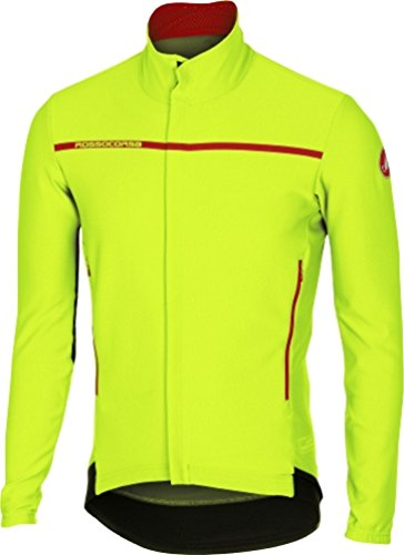 Storm Fit Convertible Jacket - Castelli Perfetto Long-Sleeve Jersey - Men's Yellow Fluo, L