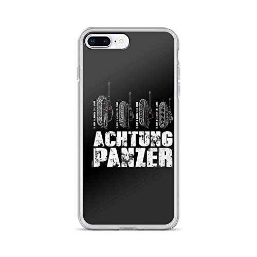 (iPhone 7 Plus/iPhone 8 Plus Case Clear Anti-Scratch Achtung Panzer, Tiger Cover Phone Cases for iPhone 7 Plus, iPhone 8 Plus)