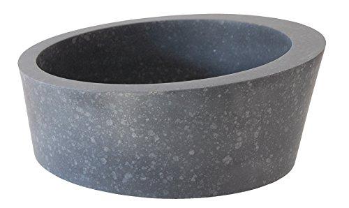 Arched Ellipse Black Basalt Vessel Sink (Basalt Vessels)