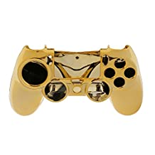 Metal Plated Housing Shell Case for Sony PlayStation 4 PS4 Controller Golden