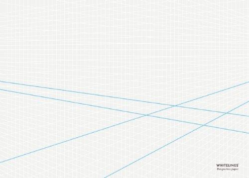 Whitelines Orange Glue A4 3-D Perspective Notepad