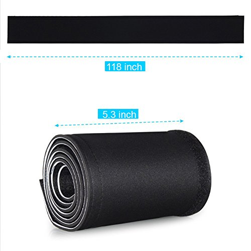 kootek 118 cable management sleeves neoprene cable organizer wrap flexible cord cover wire. Black Bedroom Furniture Sets. Home Design Ideas