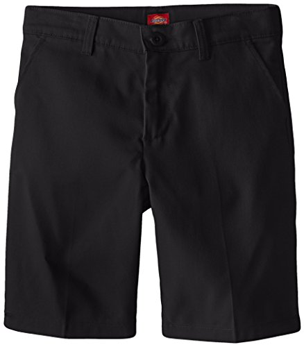 - Dickies Girl Big Girls' Flex Waist Slim Fit Flat Front Short, Black, 10