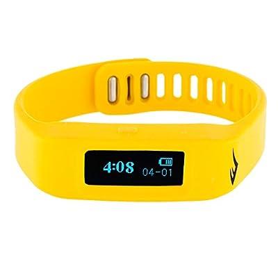 Everlast TR1 Yellow Wireless Sleep/ Fitness Activity Tracker Watch with LED Display