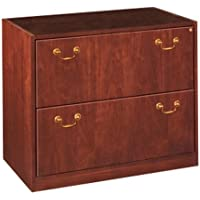 Jsi Wood Veneer Lateral File 24D X 36W X 30H Two Drawer Lateral File W/Central Locking - Classic