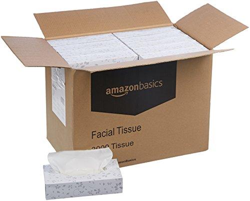 AmazonBasics Professional Facial Tissue Flat Box for Businesses, 2-Ply, White, 100 Tissues per Box, 30 Boxes by AmazonBasics (Image #2)