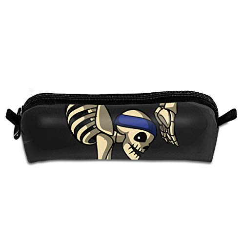Pencil Case Skeleton Yoga Exercise Pose Pen Bag Holder Portable Stationery Pouch Storage Organizer Cosmetic Bag for $<!--$7.98-->
