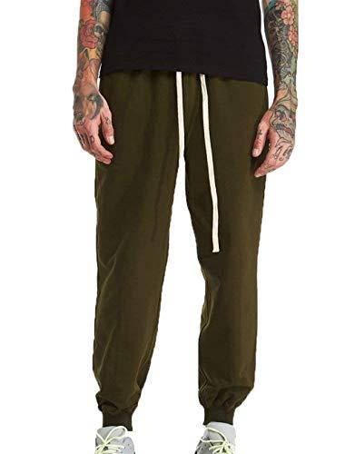 Battercake Larghi grün Casual Puro Colore Armee Da Esterno Esecuzione In Con Di Sportivi Comodo Pantaloni Uomo Allenamento Coulisse rq4PTr
