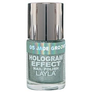 Amazon.com : Layla Hologram Effect Nail Polish, Jade Groove, 1.9 ...