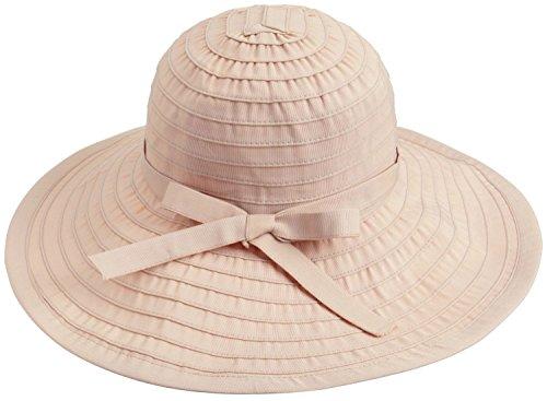 Simplicity Womens Sun Hat Summer UPF 50+ Roll Up Floppy Beach Hat Beige