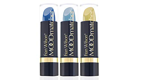 Fran Wilson Moodmatcher set of 3 pc Lipsticks-Light Blue,Dk Blue,Yellow(Blue ()