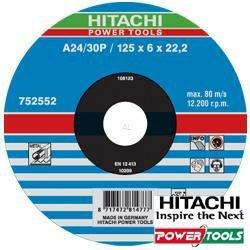 Hitachi 752552 Disco per taglio 125 x 1 x 22,2 mm metallo