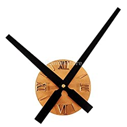 Wall Clocks - Antique Classic Acrylic Sunburst Wall Clock Battery Operated 12h Display Powered - For Mechanical Yellow Thermometer Gears Simple Gray Abstract Pendulum Zones