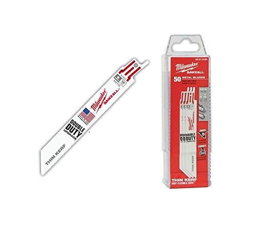 50'sPC 5.99'' x 18TPI Bi-Metal Thin Kerf Sawzall Blades New 0.5