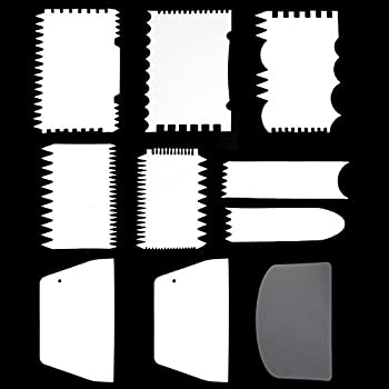 10PCS Cake Scraper Cake Edge Decorating Tool Scrappers Cutters Smoother Tool Set