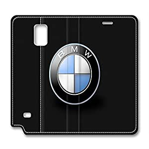 custom and diy for samsung galaxy note-4 leather case leather caseBMW Logo black background for office by HANINI