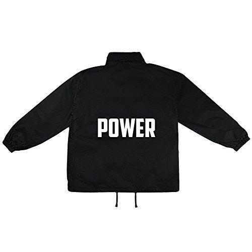 Power Motiv auf Windbreaker, Jacke, Regenjacke, Übergangsjacke, stylisches Modeaccessoire für HERREN, viele Sprüche und Designs
