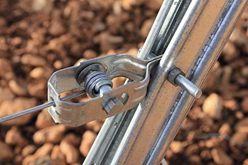 100 unidades V/álido para todo tipo de mallas y alambradas. Tensor alambre de carraca galvanizado