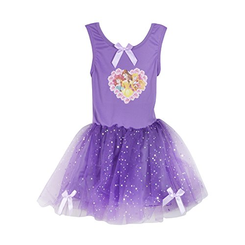 Dark Disney Princesses Costumes (Disney Princess Dark Purple Party Tutu Fancy Dress Costume (3-4 Years))