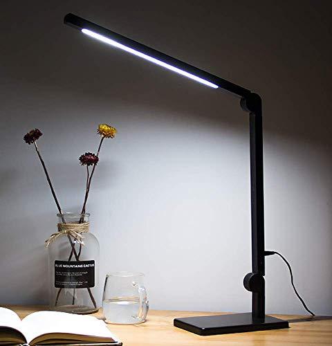 Kitlit Lampara Escritorio LED Metal,Lampara de Trabajo de Arquitecto,Lamparas Mesa Cuidado de Ojos,Brillo Infinito Color Regulable,Plegable Luz,Control Tactil,Luz de Lectura Trabajo,Estudiar,Oficina