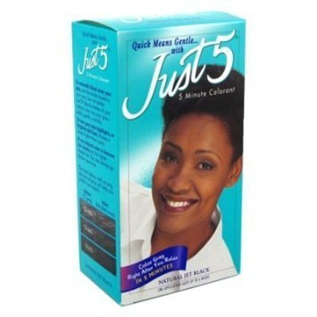Just 5 Color Natural Jet Black (6 Pack)