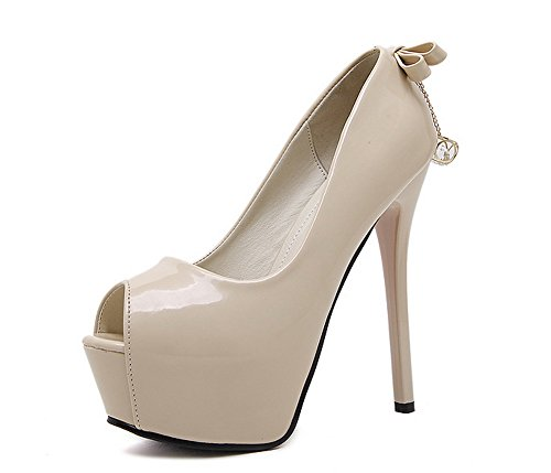 1To9 Bout Ouvert Femme Beige Abricot, 38.5 EU, MMSG00262