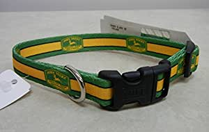 "John Deere Dog Collar with 1950 Trademark Logo X-Small Fits 8-12"" - LP44122"