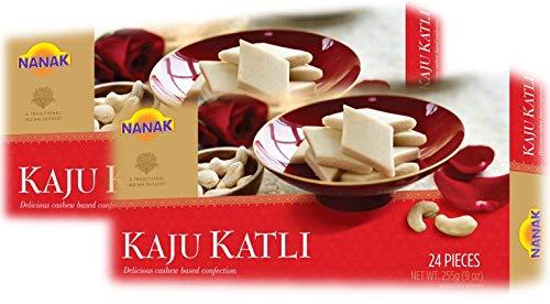 Nanak Kaju Katli (Cashew Sweet) (PACK OF 2 - 255gms X 2) - TWIN PACK